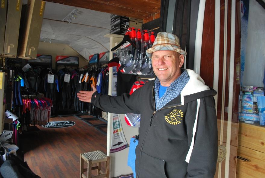 Jamie Knox teaches watersports in Castlegregory