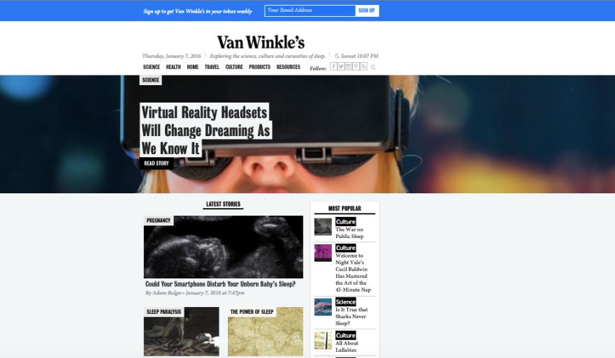 Van winkles homepage